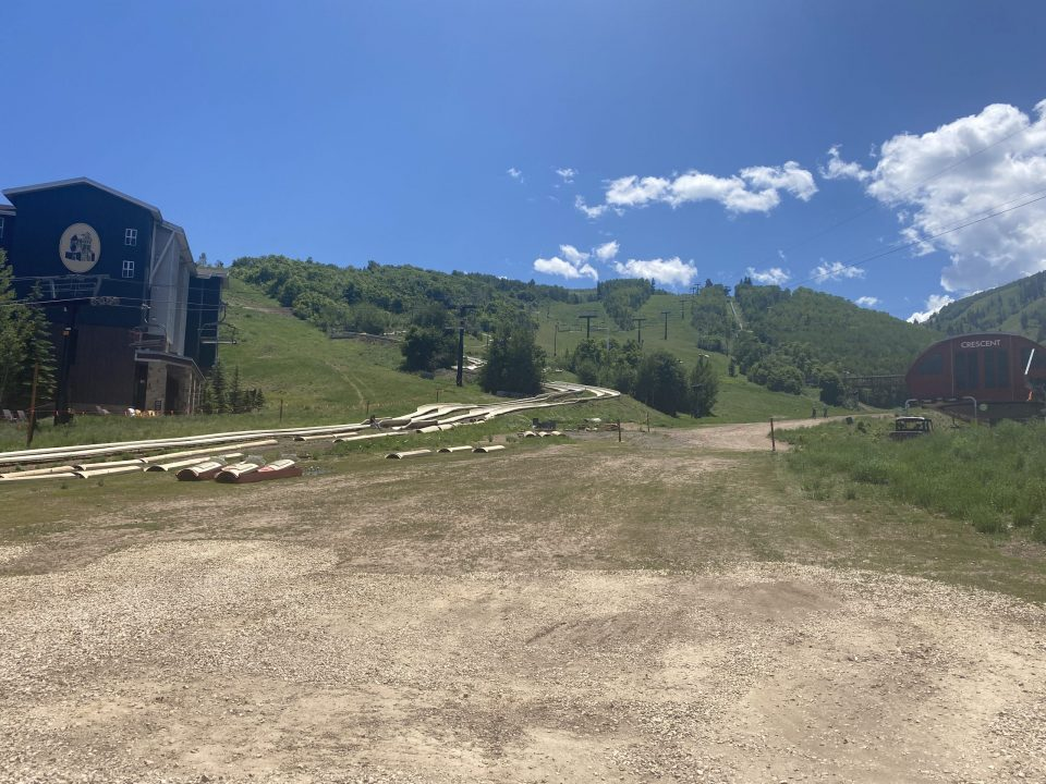Alpine slide at Park City to show summer activities in Park City for families and couples.